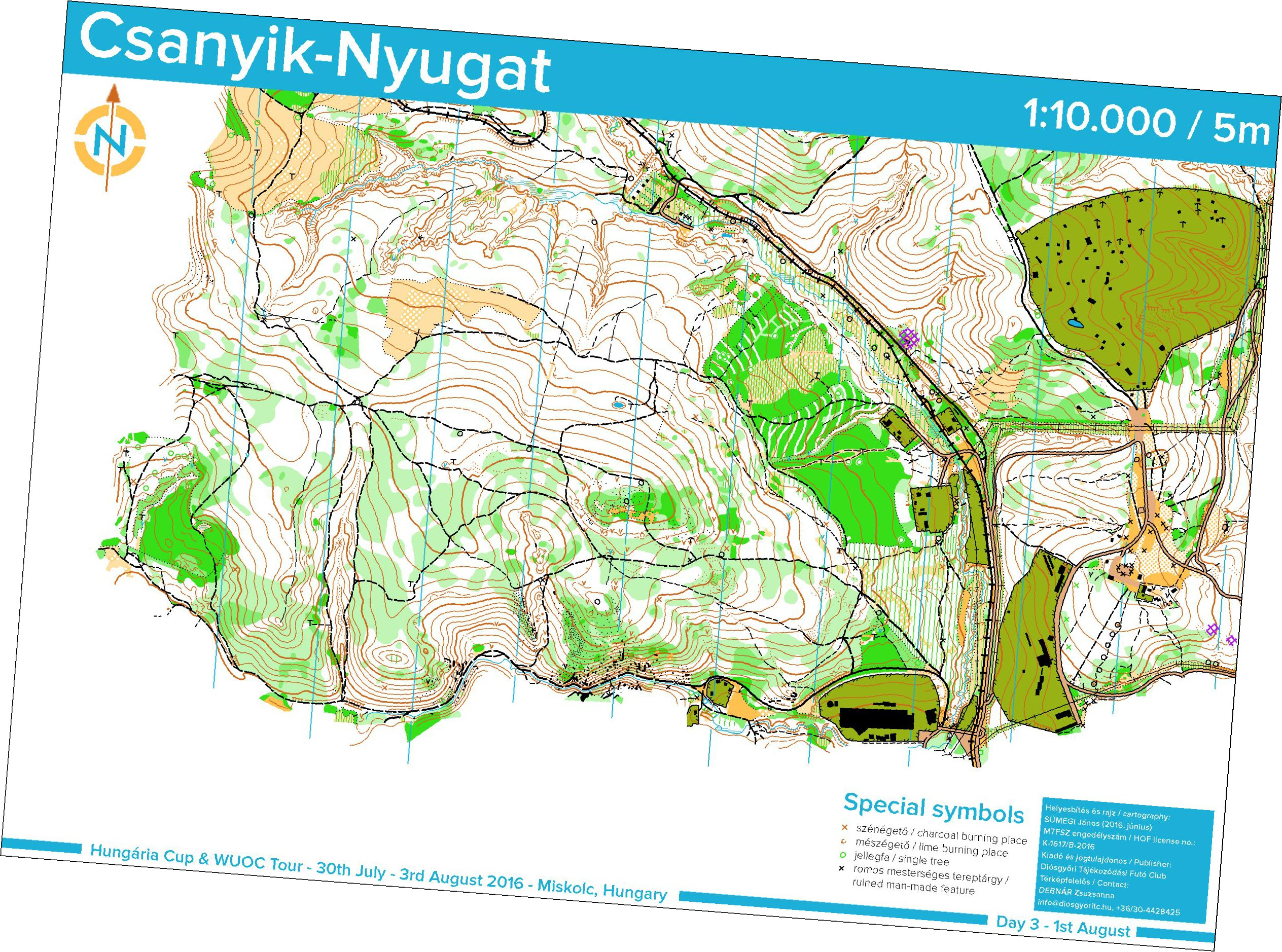 Hungria Kupa 3nap August 1st 2016 Orienteering Map from mtfszhu