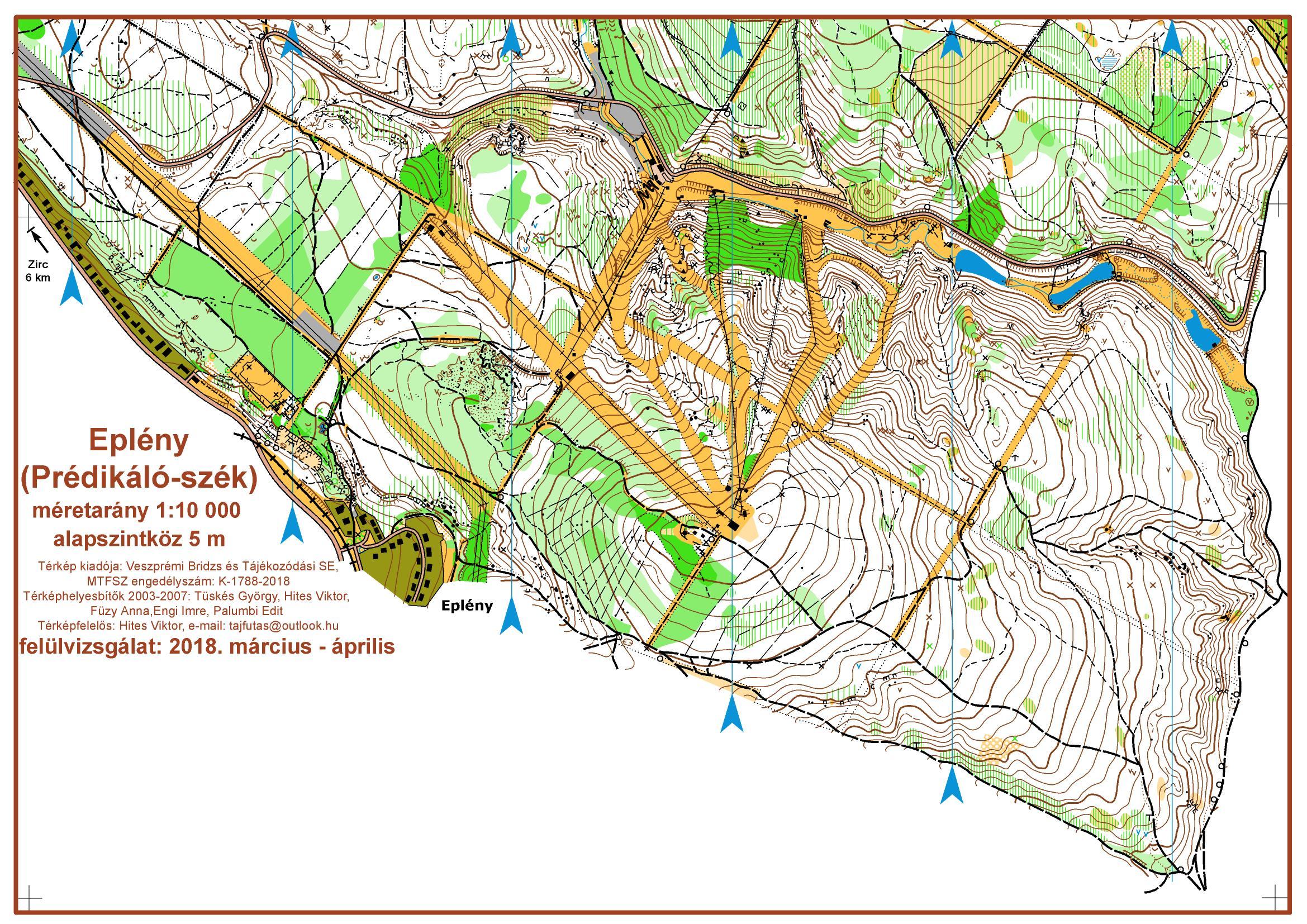 eplény térkép DOL normáltáv   May 27th 2018   Orienteering Map from mtfsz.hu eplény térkép